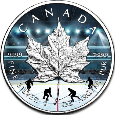 Maple Leaves Mintage 7,500 99,99/% Fine Silver Glow-in-the-Dark Coin 1 oz