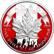 Canada PATRIOTIC CANADIAN MAPLE LEAF $5 Dollars 2019 Silver Coin 1 oz
