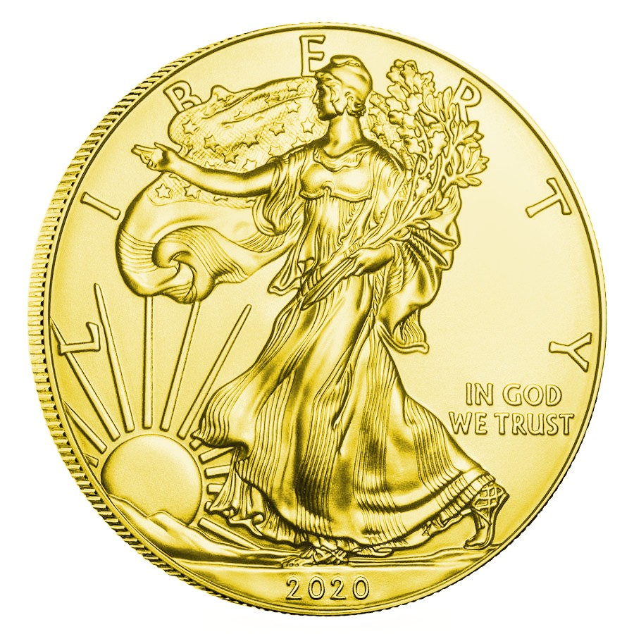 USA SOCIAL DISTANCE COVID-19 series CORONAVIRUS American Silver Eagle 2020 Walking Liberty $1 Silver coin Gold plated 1 oz