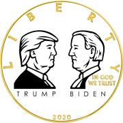 USA TRUMP vs. BIDEN ELECTION American Silver Eagle 2020 Walking Liberty $1 Silver coin Gold plated 1 oz