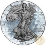 USA ARCTIC BLAST American Silver Eagle 2018 Walking Liberty $1 Silver coin Ruthenium plated 1 oz