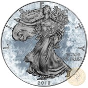 USA ARCTIC BLAST American Silver Eagle 2018 Walking Liberty $1 Silver coin Ruthenium plated 1 oz