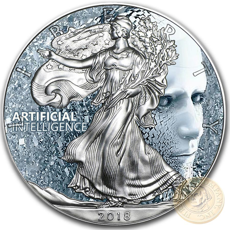 Usa Artificial Intelligence Life American Silver Eagle