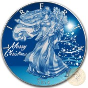 USA MERRY CHRISTMAS SNOW LIBERTY American Silver Eagle 2018 Walking Liberty $1 Silver coin 1 oz