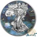 USA CLASSIC ART CLAUDE MONET WATER LILIES American Silver Eagle 2018 Walking Liberty $1 Silver coin 1 oz