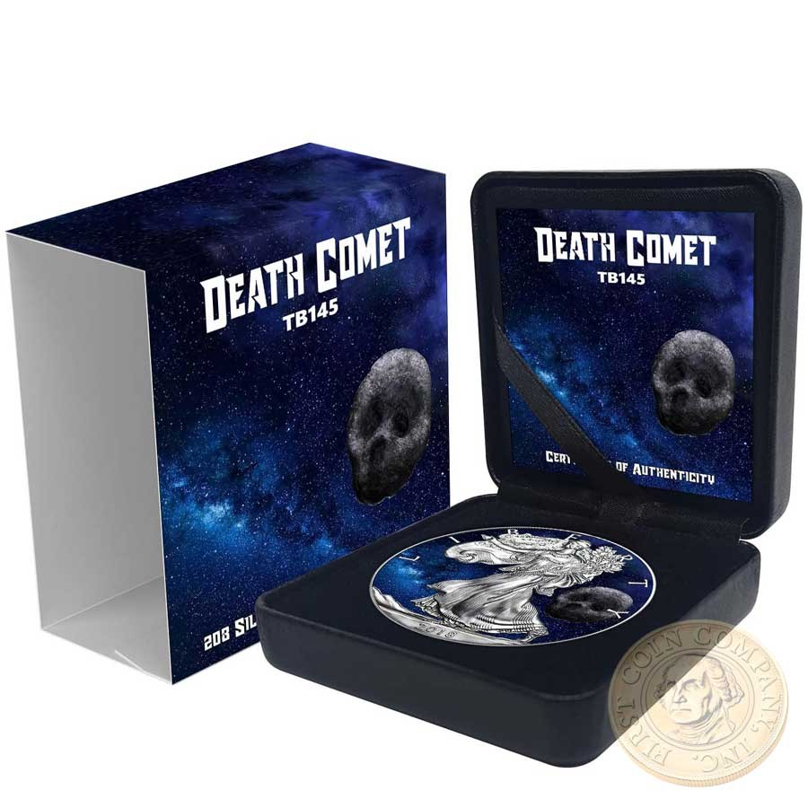USA DEATH COMET American Silver Eagle 2018 Walking Liberty $1 Silver coin 1 oz