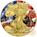 USA DONALD TRUMP American Silver Eagle 2018 Walking Liberty $1 Silver coin Gold plated 1 oz