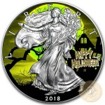 USA HALLOWEEN SILVER American Silver Eagle 2018 Walking Liberty $1 Silver coin 1 oz