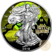 USA HALLOWEEN SILVER American Silver Eagle 2018 Walking Liberty $1 Silver coin 1 oz