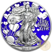 USA LIVE LOVE LAUGH POWER American Silver Eagle 2018 Walking Liberty $1 Silver coin 1 oz