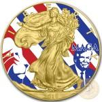 USA MAGA American Silver Eagle 2018 Walking Liberty $1 Silver coin Gold Plated 1 oz