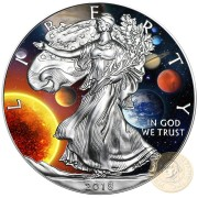 USA SOLAR SYSTEM American Silver Eagle 2018 Walking Liberty $1 Silver coin 1 oz