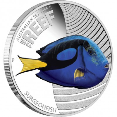 Australia THE REEF - SURGEONFISH series AUSTRALIAN SEA LIFE II Silver Coin $0.50 Proof 2012