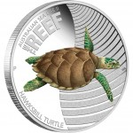 Australia THE REEF- HAWKSBILL TURTLE series AUSTRALIAN SEA LIFE II $0.50 Silver Coin 2011 Proof
