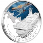Australia BATTLE OF MIDWAY Series FAMOUS NAVAL BATTLES Silver Coin $1 Proof 2011