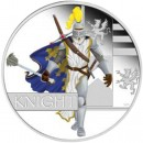 Tuvalu KNIGHT Series GREAT WARRIORS $1 Silver Coin 2010 Proof 1 oz