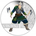 Tuvalu VIKING Silver Coin GREAT WARRIORS $1 Silver Coin 2010 Proof 1 oz