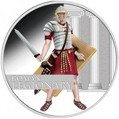Tuvalu ROMAN LEGIONARY Series GREAT WARRIORS $1 Silver Coin 2010 Proof 1 oz