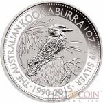 Australia AUSTRALIAN KOOKABURRA 25th Anniversary $1 Silver coin 2015 BU 1 oz