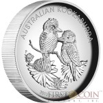 Australia AUSTRALIAN KOOKABURRA $1 Silver High Relief Coin 2013 Proof 1 oz