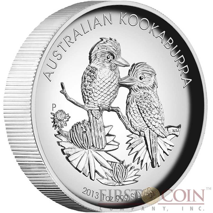 Australia Kookaburra 1 Silver High Relief Coin 2013 Proof
