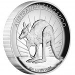 Australia series AUSTRALIAN KANGAROO High Relief  $1 Silver Coin 2011 Proof