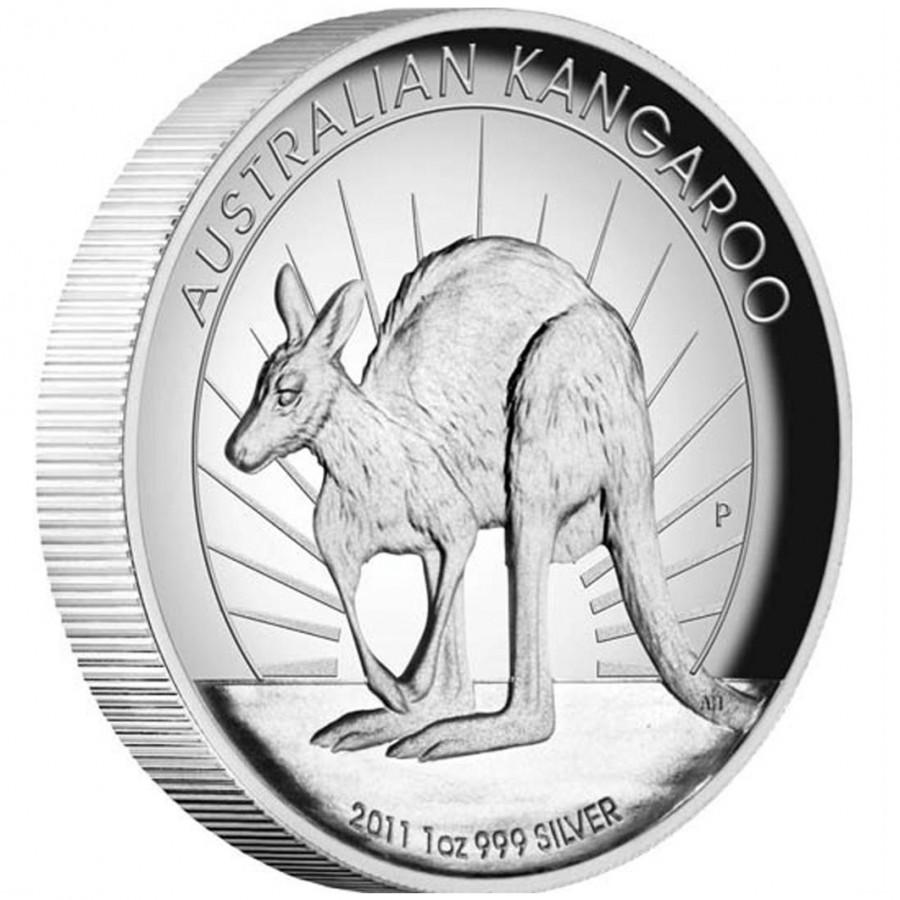 Australia Series Australian Kangaroo High Relief 1 Silver