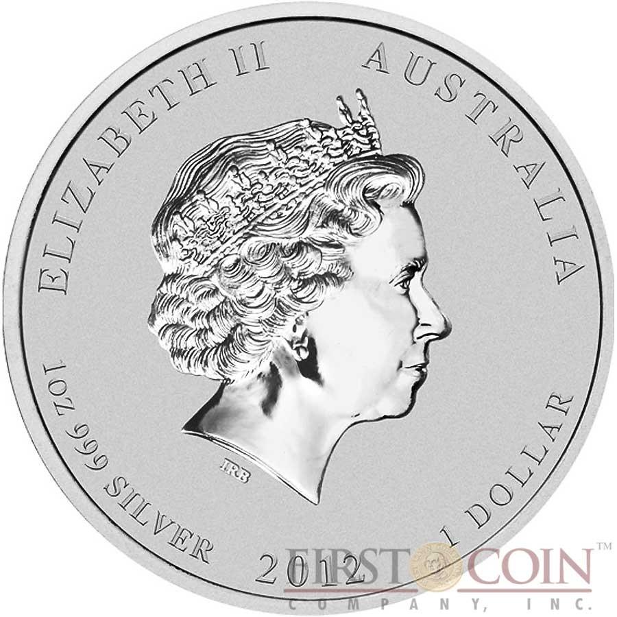 Australia DRAGON Lunar II series $1 Lion Privy Mark Silver coin 2012 BU 1 oz