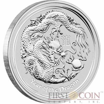 Australia DRAGON Lunar II series $0.5 Silver coin 2012 BU
