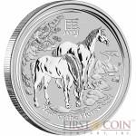 Australia HORSE Lunar II series $0.5 Silver coin 2014 BU