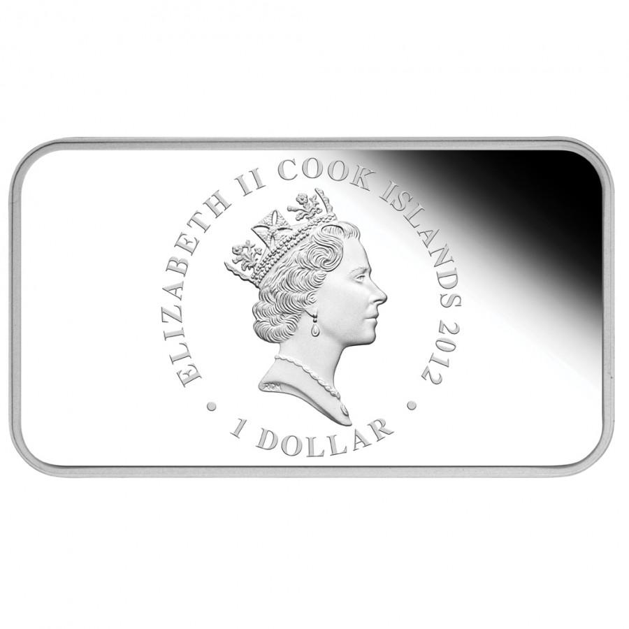 Australia YEAR OF THE DRAGON Series LUNAR CALENDAR $4 Four Silver Rectangle Coin Set 2012 Proof 4 oz