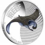 Australia THE REEF - MANTA RAY series AUSTRALIAN SEA LIFE II Silver Coin $0.50 Proof 2012