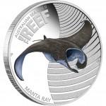Australia THE REEF - MANTA RAY series AUSTRALIAN SEA LIFE II Silver Coin $0.50 Proof 2012