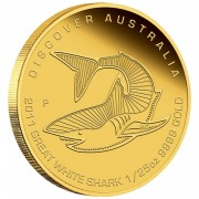 Australia GREAT WHITE SHARK Series DREAMING DISCOVER AUSTRALIA $5 Gold Coin 2011 Proof 1/25 oz