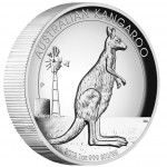 Australia series AUSTRALIAN KANGAROO High Relief $1 Silver Coin 2012 Proof