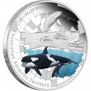 Australia THE KILLER WHALE Series AUSTRALIAN ANTARCTIC TERRITORY $1 Silver Coin 2011 Proof