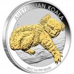 Australia AUSTRALIAN KOALA series AUSTRALIAN GILDED KOALA Silver Coin $1 Proof 2012