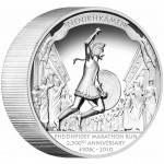 Tuvalu PHEIDIPPIDES' MARATHON RUN 2,500TH ANNIVERSARY 490 BC Silver High Relief Coin $1 Proof 2010