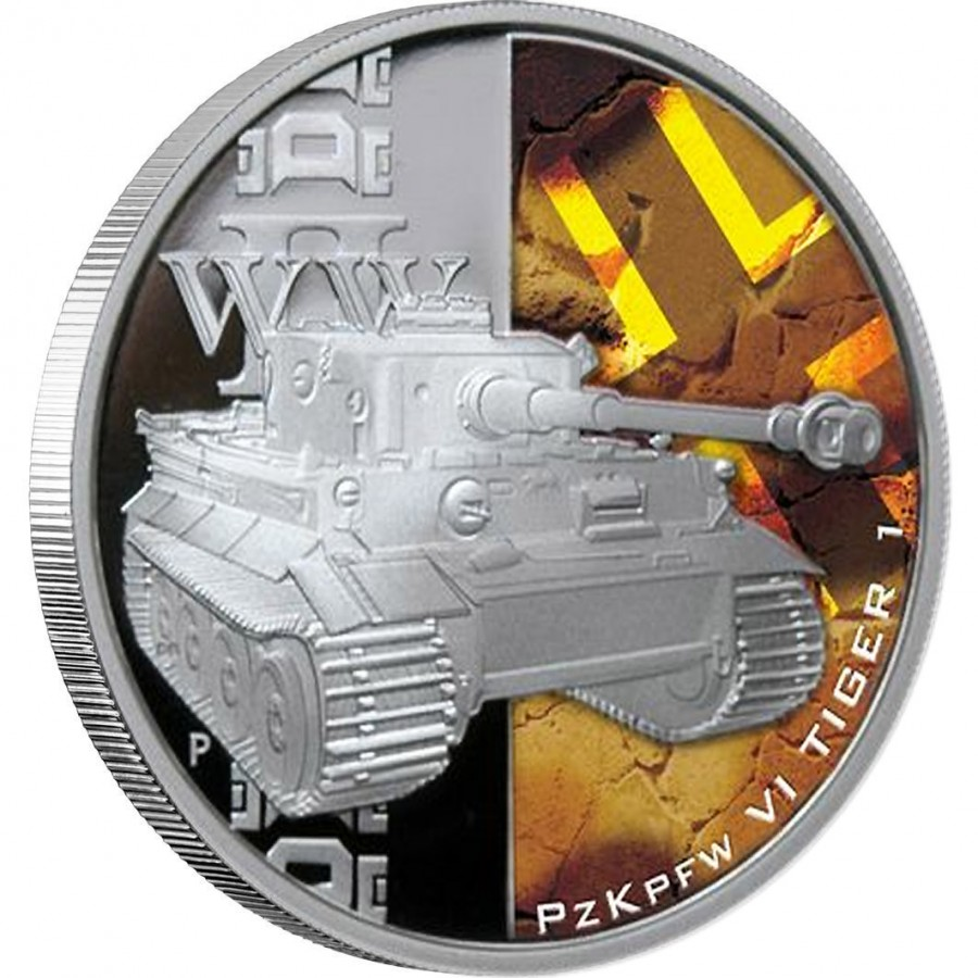 Tuvalu TANKS OF WORLD WAR II $5 Five Silver Coins Set Proof 2010