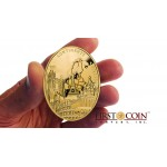 "Niue ""Europe"" Continents Series $100 Gold Coin 2013 Oval Shape Proof 3 oz"