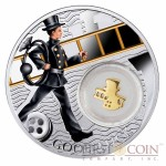 Niue Chimney Sweep LUCKY COINS Silver Coin Symbols of Luck Series $1 Colored 2014 Proof with Silver Gold-plated Filigree Insert