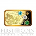 Niue Spring Magic Year of Happiness Gold Coin Swarovski crystals 2013