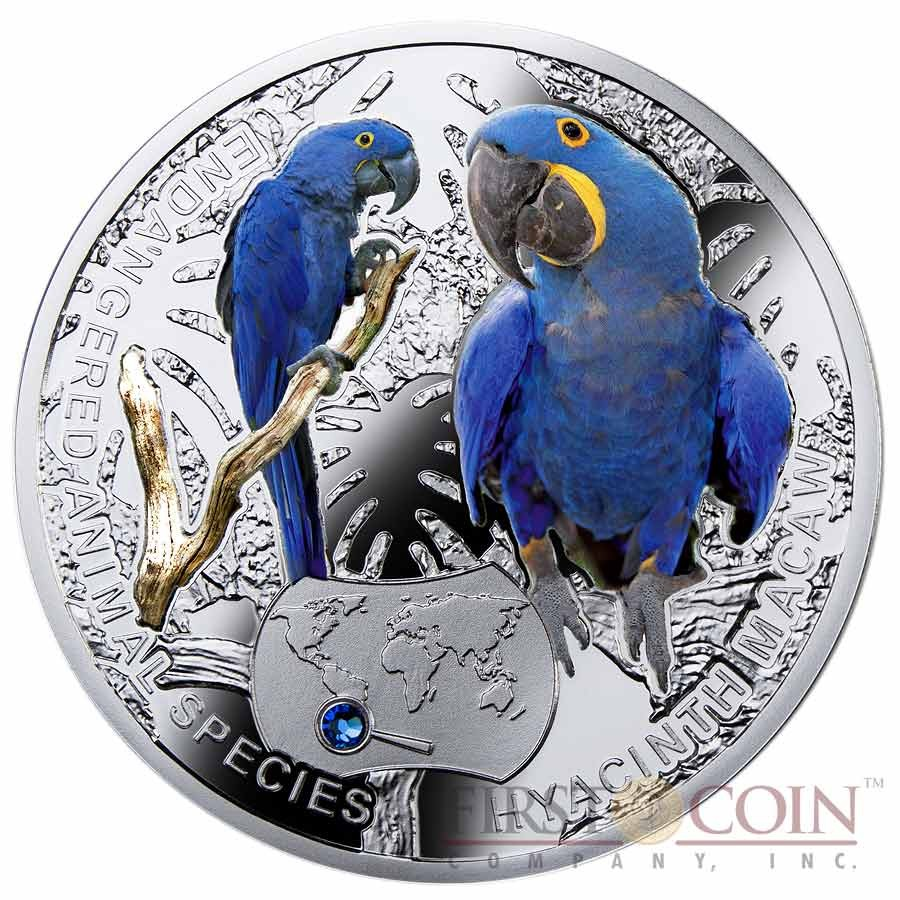 Niue Hyacinth Macaw Silver Coin Quot Sos To The World