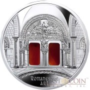 "Niue Romanesque Art of ""The Art that Changed the World"" series $10 Silver Coin 2014 with Agate Insert Proof 3 oz"