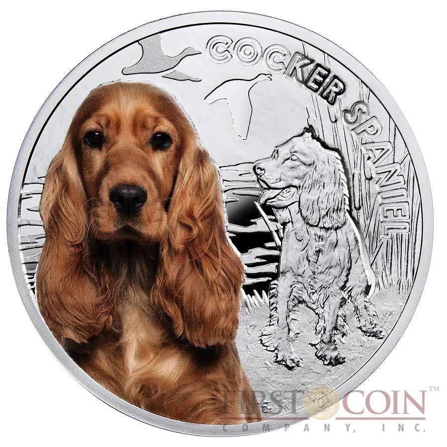 Niue Cocker Spaniel Silver Coin