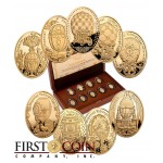 Niue Gold Imperial Faberge Eggs 6 g $45 Series 9 Nine Coin Set 2012-2013 Proof ~1.74 oz