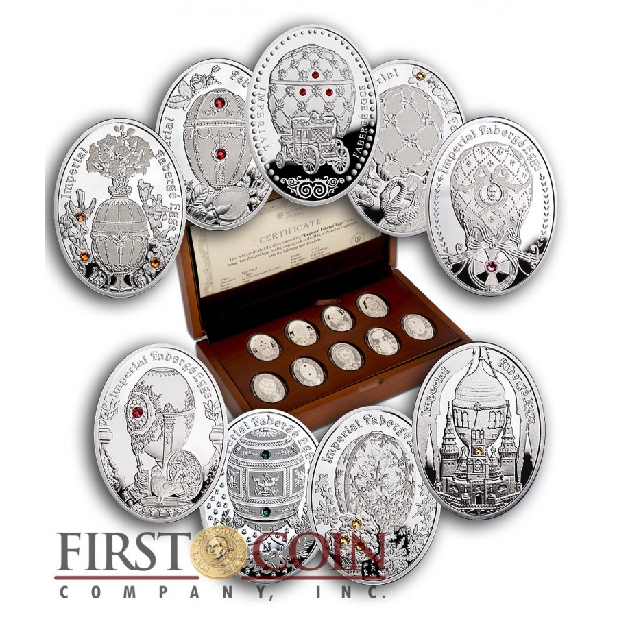 Niue Island 2012 1$ Napoleonic Egg Imperial Faberge Egg series silver coin