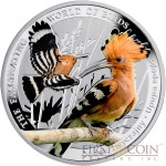 Niue The Hoopoe Silver Coin The Fascinating World of Birds Series $1 Colored 2014 Proof