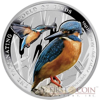 Niue The Kingfisher Silver Coin The Fascinating World of Birds Series $1 Colored 2014 Proof