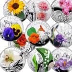 "Belarus ""Under the Charm of Flowers"" 10 Coin Set Silver 100 Rubles Colored 2013 Proof ~5 oz"